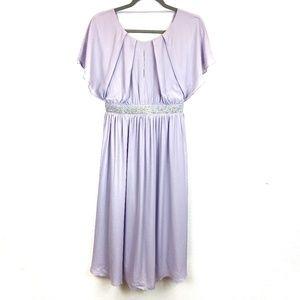 NWT ASOS Lavender Purple Flare Midi Dress Size 4